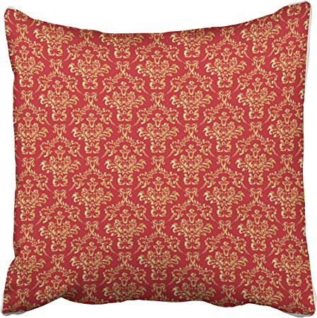 Cuscini Damascati Per Divani.Musesh Oro Rosso Damascato Cuscini Di Tiro Copertura Del Cuscino