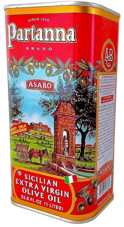 Partanna Extra Virgin Olive Oil, 33.8-Ounce