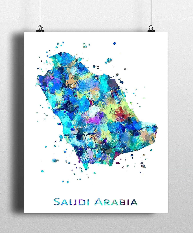 Saudi Arabia Print Saudi Arabia Art Print GoldArtPrint Home Wall Decor Living Room Decor Home Decor Saudi Arabia Map Art Wall Prints