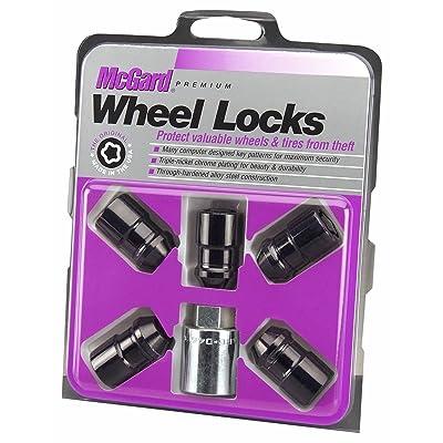 "McGard 24548 Black Cone Seat Wheel Locks(1/2""-20 Thread Size) - Set of 5: Automotive"