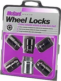 McGard 24548 Chrome/Black, 1/2-Inch-20 Thread Size Cone Seat Wheel Lock, Set of 5