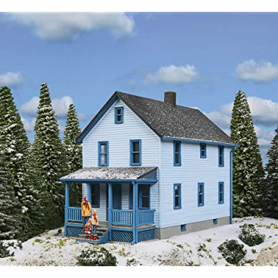 "Walthers Cornerstone HO Scale Model Story Frame House Kit, 1/16"" 12.7 x 6.3 x 10.3cm: Toys & Games"