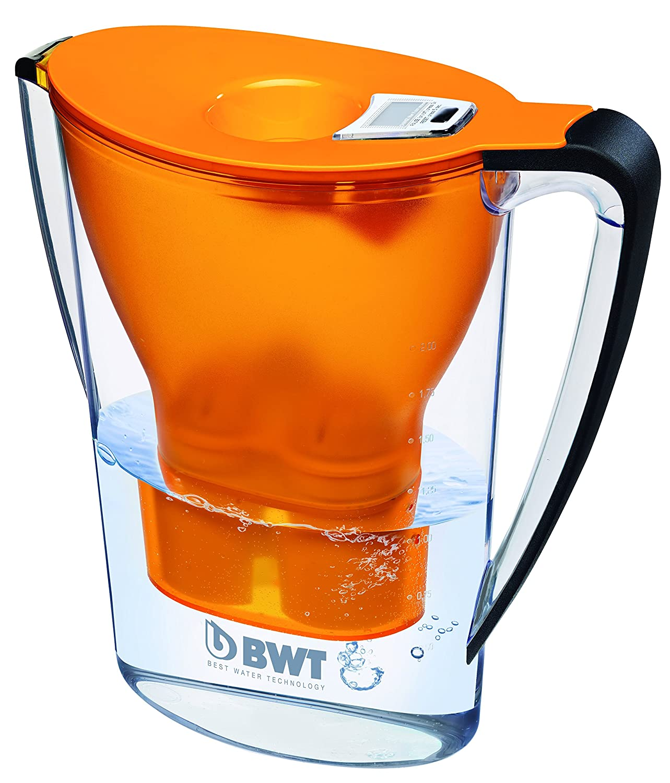 BWT Penguin Electrónica - Jarra filtradora de agua con magnesio + Pack 6 filtros jarra de agua, 2,7 L Naranja: Amazon.es: Hogar