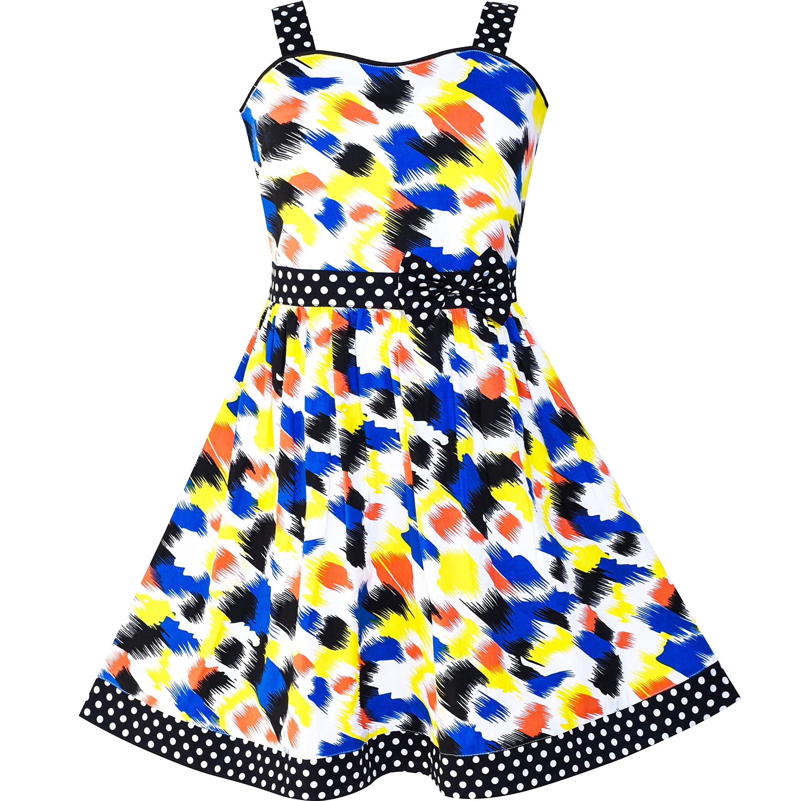 f27fa4b3de770 Sunny Fashion Robe Fille Cœur Imprimer Rose 4-12 ans