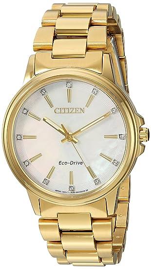 Citizen Chandler Reloj de Mujer Eco-Drive 37mm Correa de Acero FE7032-51D