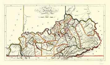 State Map Kentucky.Amazon Com Old State Map Kentucky Gridley 1814 23 X 38 85