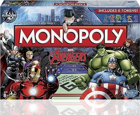 Hasbro Monopolio Vengadores Junta Juego: Amazon.es: Juguetes y juegos