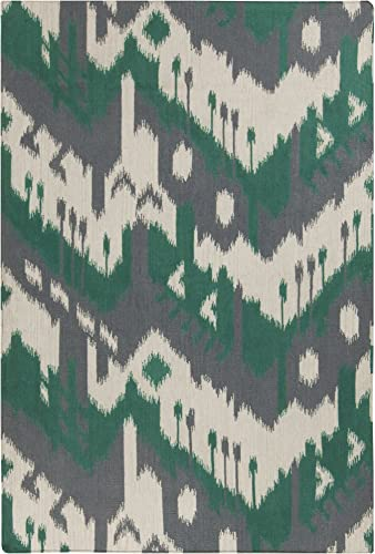 Surya Hand Woven Casual Accent Rug, 2 by 3-Feet, Gray Emerald Kelly Green Ivory