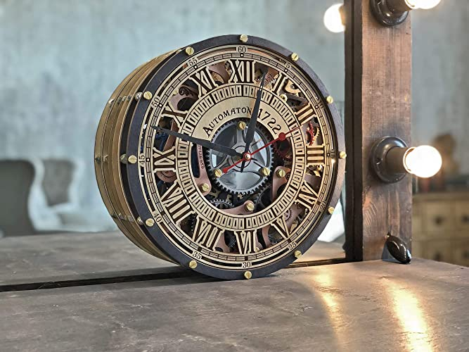 Skeleton Wall Clock By Automaton""