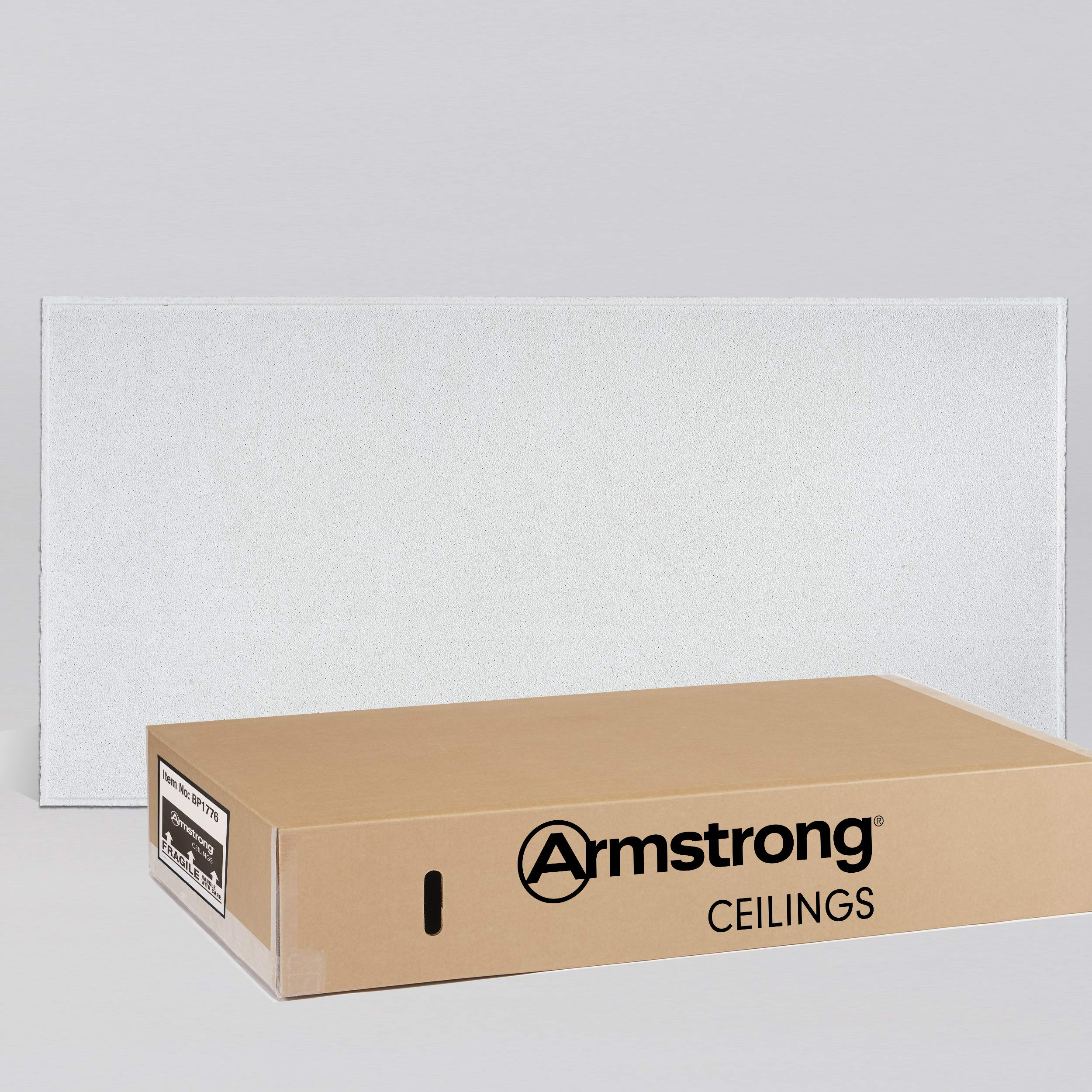 Armstrong Ceiling Tiles; 2x4 Ceiling Tiles - HUMIGUARD Plus Acoustic Ceilings for Suspended Ceiling Grid; Drop Ceiling Tiles Direct from the Manufacturer; DUNE Item 1776 - 8 pcs White Tegular