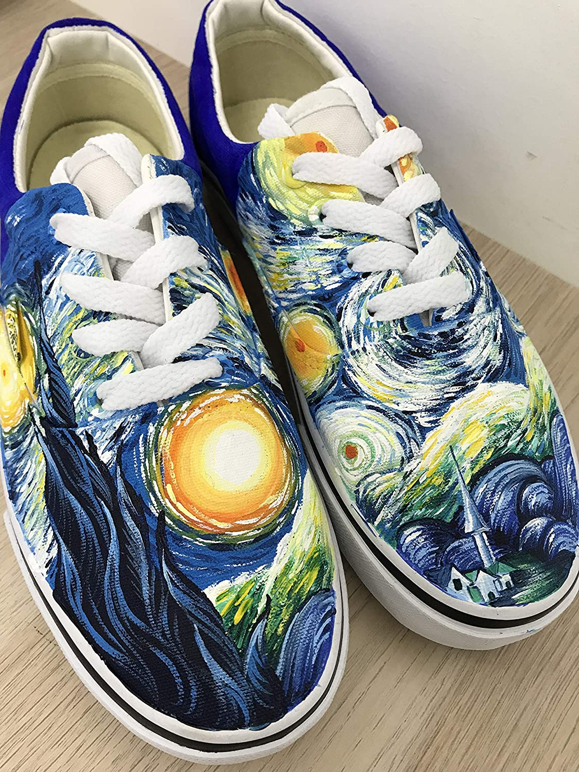 9747d078c0 The Starry Night Vans Authentic Van Gogh Starry Night Vans Shoes Custom  Shoes Vans Authentic Custom Hand Painted Shoes Hand Painted Vans Authentic  Custom ...