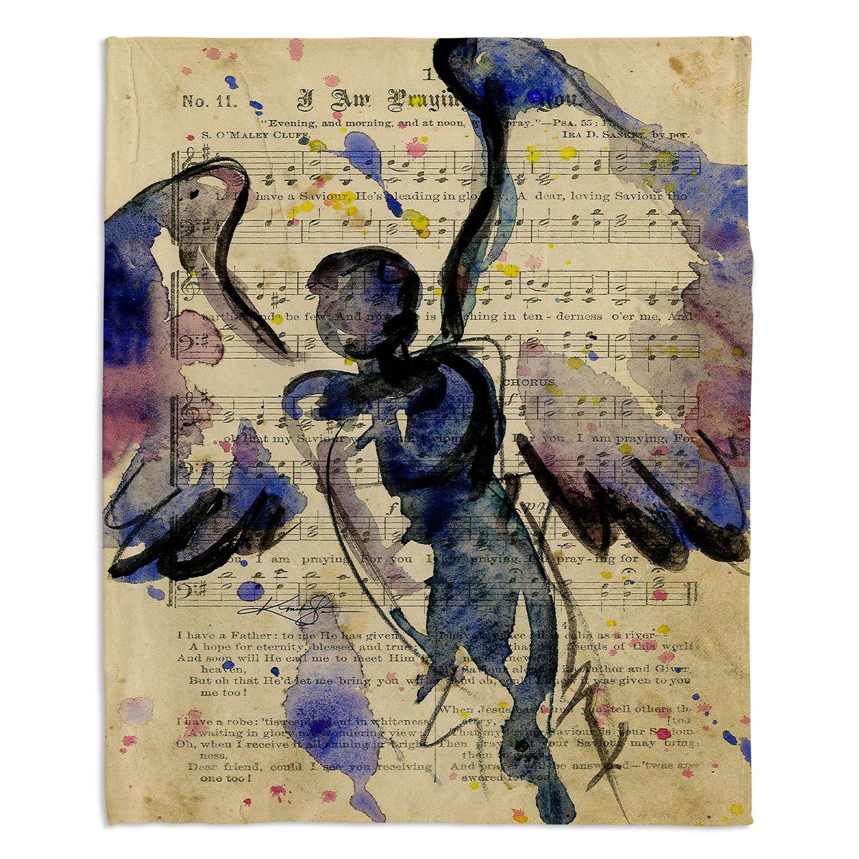 ブランケットウルトラソフトFuzzy 4サイズホーム装飾寝室ソファスローブランケットダイアノウチェデザインズ – Artist Kathy Stanion – Calling All Angels XLVII Medium 60