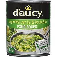 d'aucy Légumes Verts/Bouillon pour Soupe 800 g