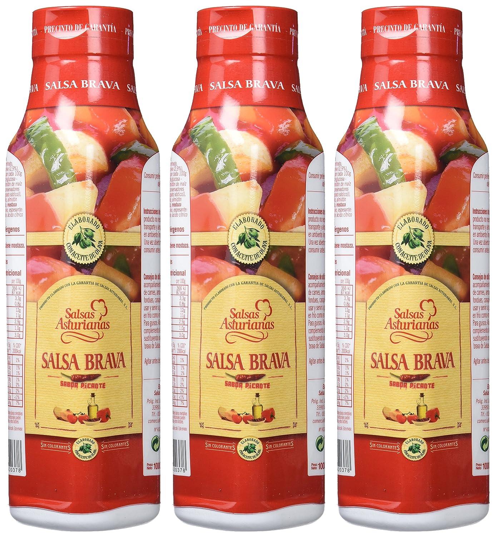 Salsas Asturianas Salsa Brava - 1000 gr - [Pack de 3]: Amazon.es: Alimentación y bebidas