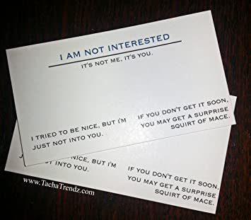 I am not interested offensive business cards amazon office offensive business cards colourmoves