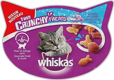 whiskas Trio Crunchy Treats Friandise Sabor de la mar para Gatos 8 x 55 g