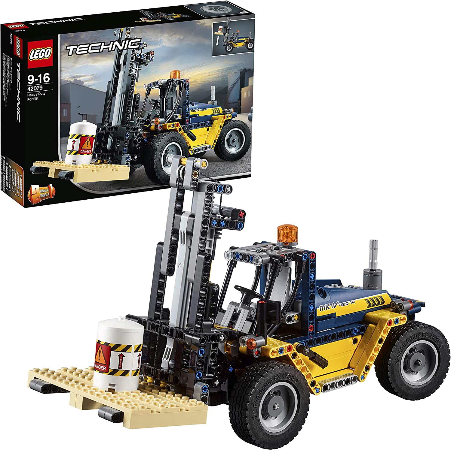 LEGO 42079 Technic Heavy Duty Forklift 2-in-1 Tow Truck with Crane Building Set