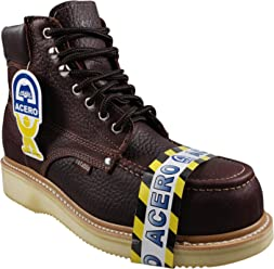 ESTABLO Mens Leather Work Boots Style 505 Shedron Bull Fight Steel Toe