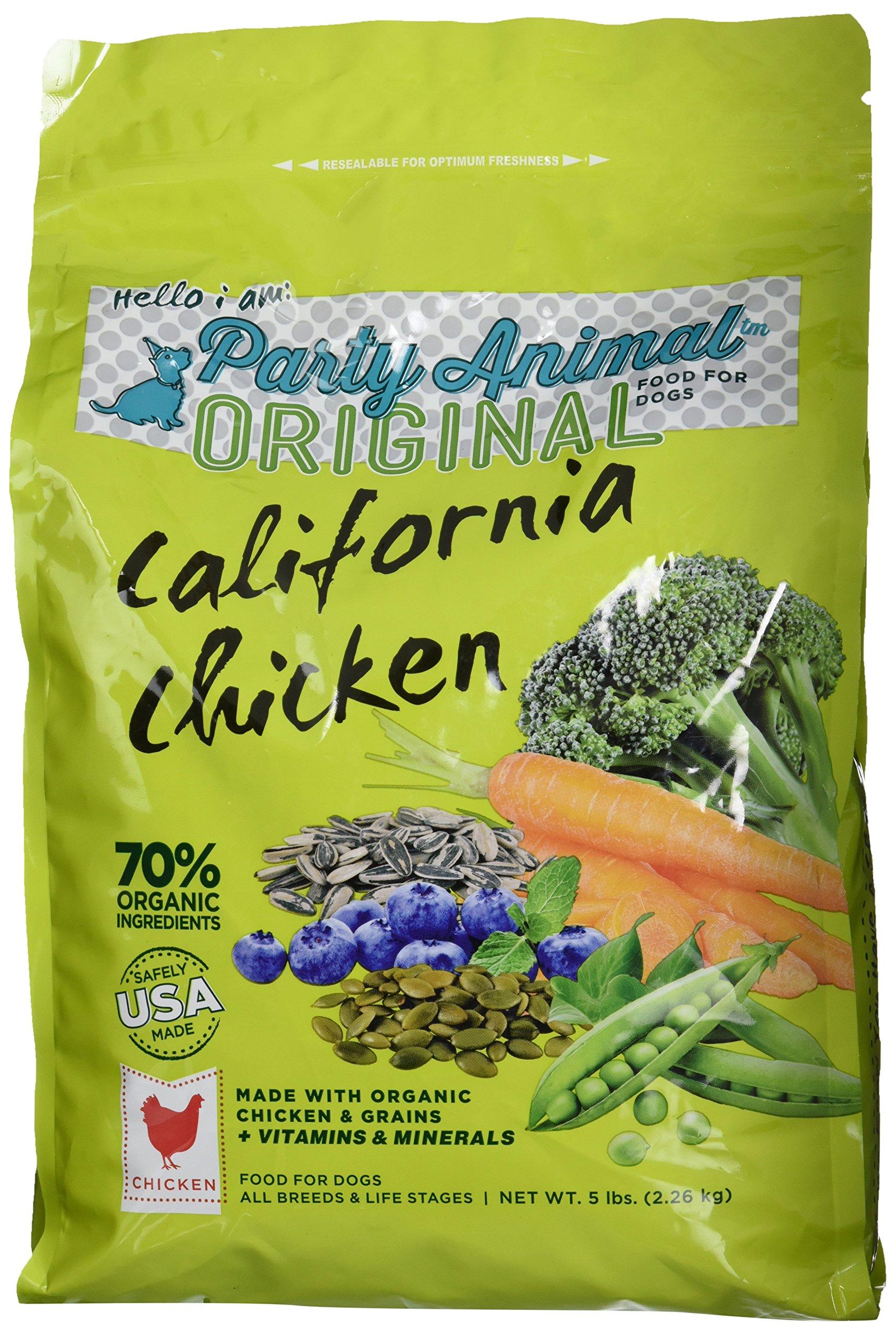 Party Animal Organic California Chicken Dry Dog Food , 5lb