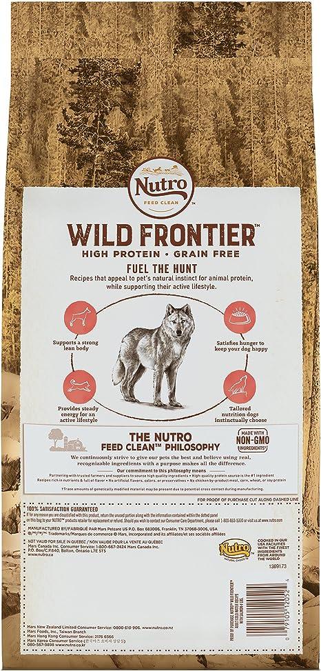 Nutro salvaje frontera salmón agua fría sin grano seco perro alimentos, 4 kg por Nutro