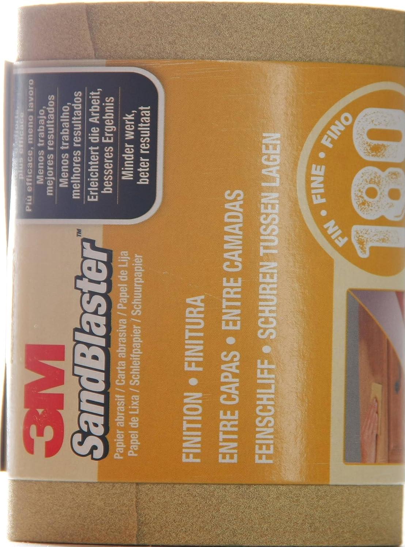 para desbaste beige 3M rollo de papel de lija universal SandBlaster 4312