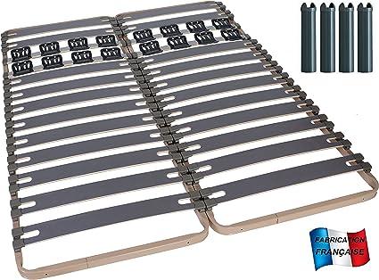 MEUBLEPRO Somier conforev + contactos 2 x 80 x 200 + 4 Patas ...