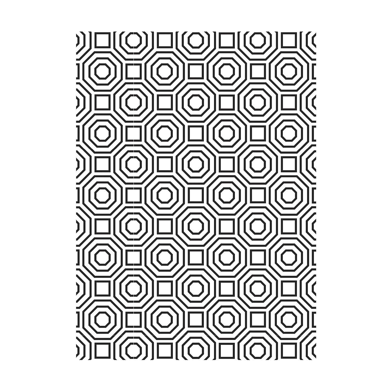 Darice Geometric Octagon Pattern Embossing Folder
