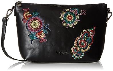1b627dc7abf2 Desigual Bols delilah Catania femme Sacs bandoulière Noir (Negro)  10.5x20x24.5 cm (