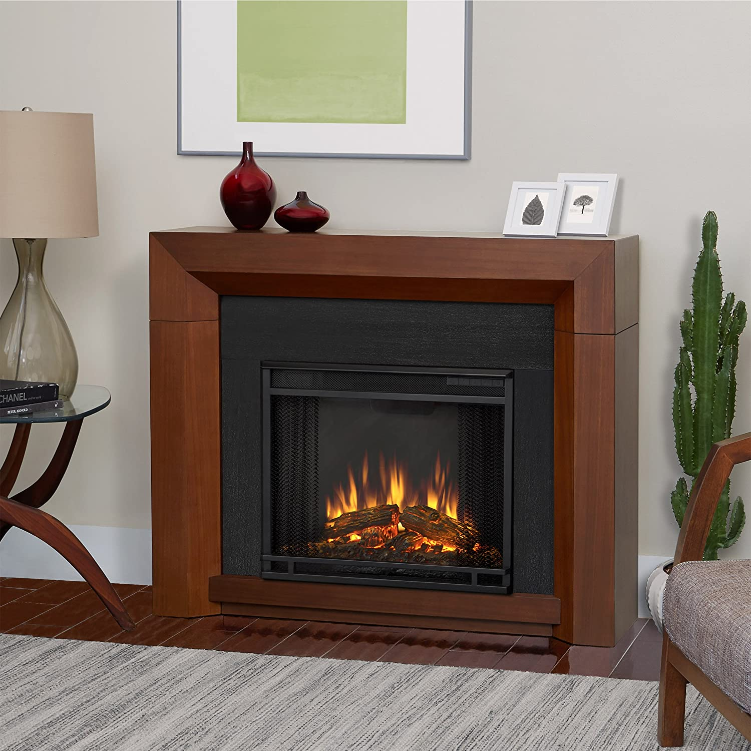 amazon com real flame 3001e gry electric hughes fireplace medium