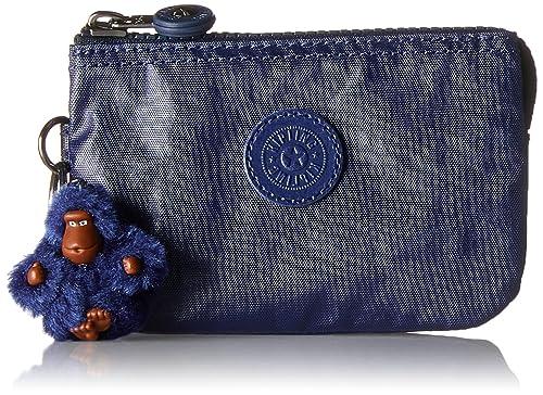 Kipling Creativity S, Porte-monnaie femme, Blau (Lacquer Indigo), 14.5x9.5x0.1 cm (B x H T)