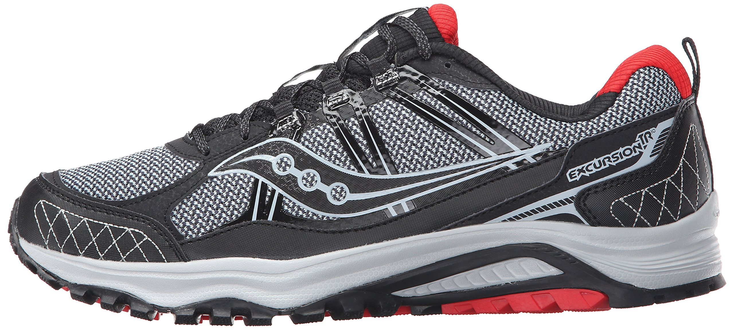 Saucony Men's Grid Excursion TR10 Running Shoe, Grey/Black/Red, 8 M US by Saucony (Image #5)