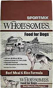 Sportmix Wholesomes Beef Meal & Rice Formula - 40lb.