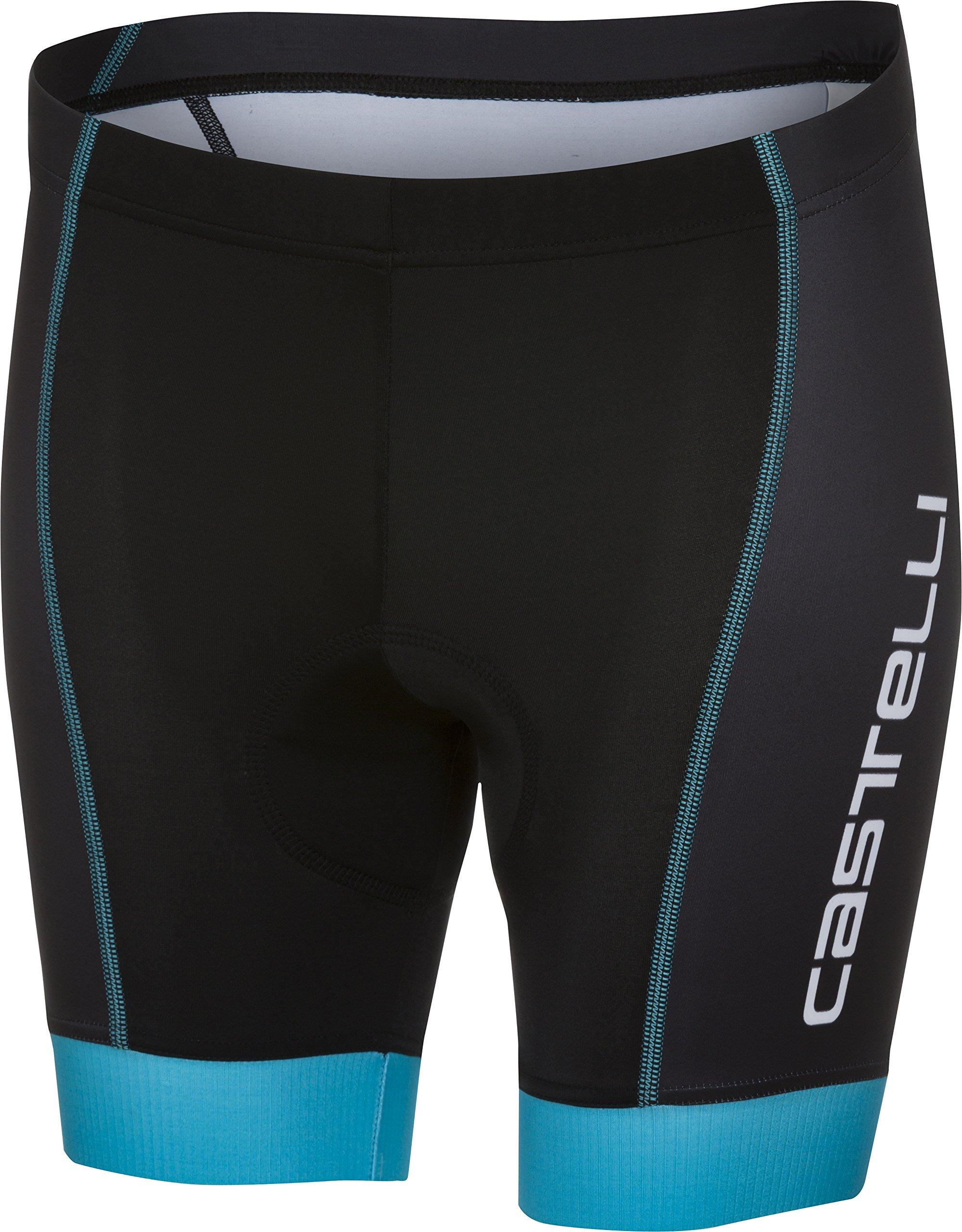 Castelli Future Racer Kid Short - Boys' Black/Sky Blue, 8