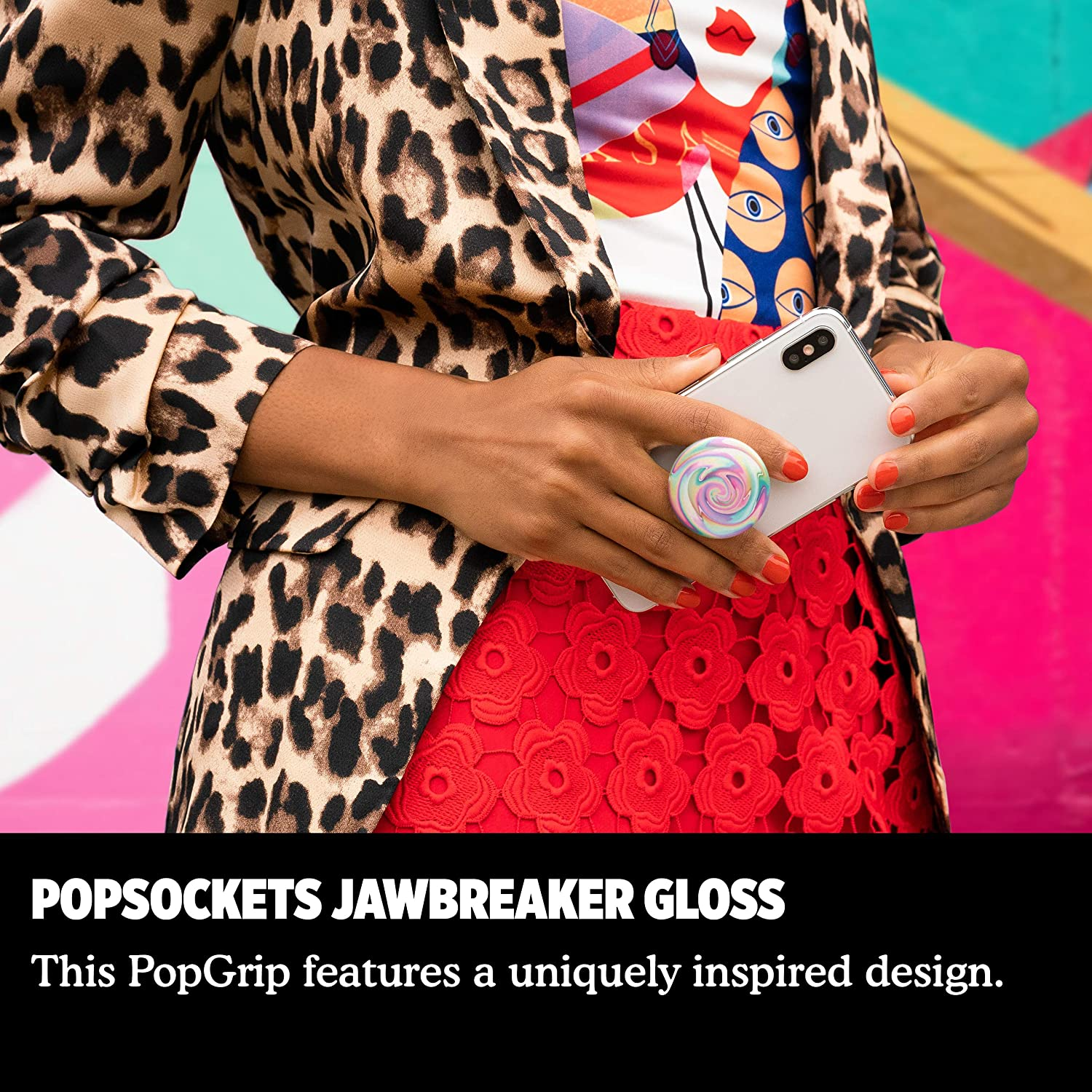 PopGrip with Swappable Top for Phones and Tablets Jawbreaker Gloss PopSockets