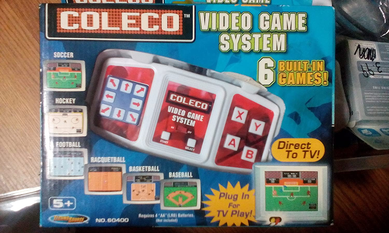 amazon com coleco plug n play tv video game system soccer hockey