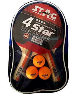 ec9161790d Buy Stag 1 Star Table Tennis Play Set (2 Bats and 3 Balls) Online at ...