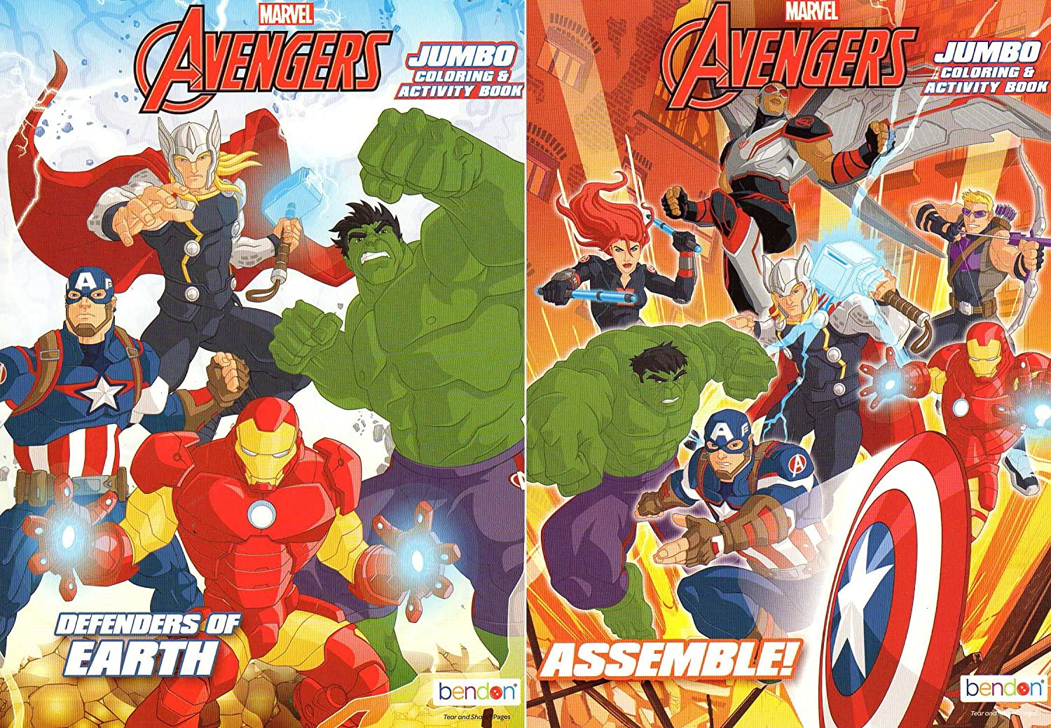 Amazon.com: Marvel Avengers Jumbo Coloring and Activity Book ...