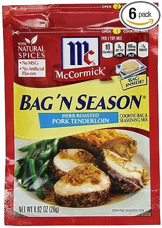 McCormick Bag n Season Herb Roasted Pork Tenderloin Cooking & Seasoning Mix, 0.92 oz