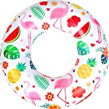 """AIRTIME Inflatable Flamingo Paradise Ring Swimming Pool Tube Lounge Raft Float 25.59"""" Dia Inf Size 22.83"""""""