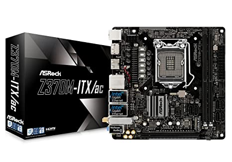 Asrock Z370M-ITX/AC Placa Base (Z370M-Itx/Ac, Amd, Am4, Z370, 2Ddr4, 32Gb, 2Hdmi+Dp, Gblan+Wifi+Bt, 6Sata3, 8Usb3.1, MI, Sin Especificar