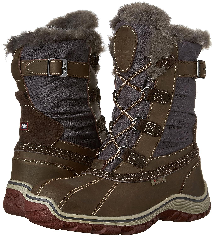 Pajar Women's Adelaide Snow Boot B01B63HC1E 38 EU/7-7.5 M US|Dark Brown/Grey
