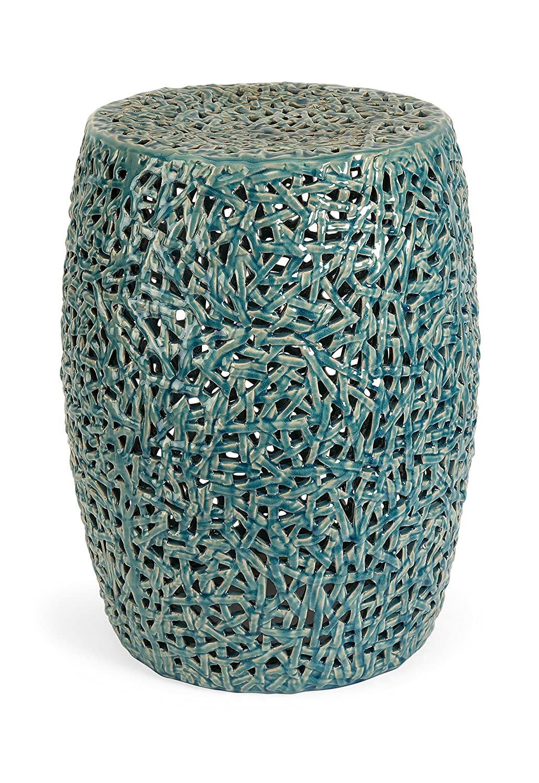 Amazon.com : IMAX 25060 Tobias Cutwork Garden Stool, Blue : Ceramic Garden  Stool : Home U0026 Kitchen