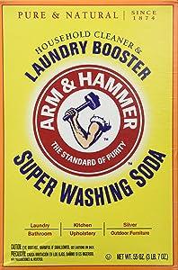 Church & Dwight Co 03020 Arm & Hammer Super Washing Soda 55 oz. (Pack of 3)