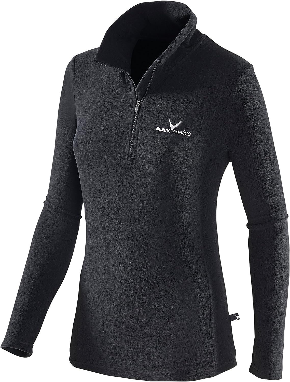 BCR218532 Black Crevice Damen Fleece-Funktionsrolli