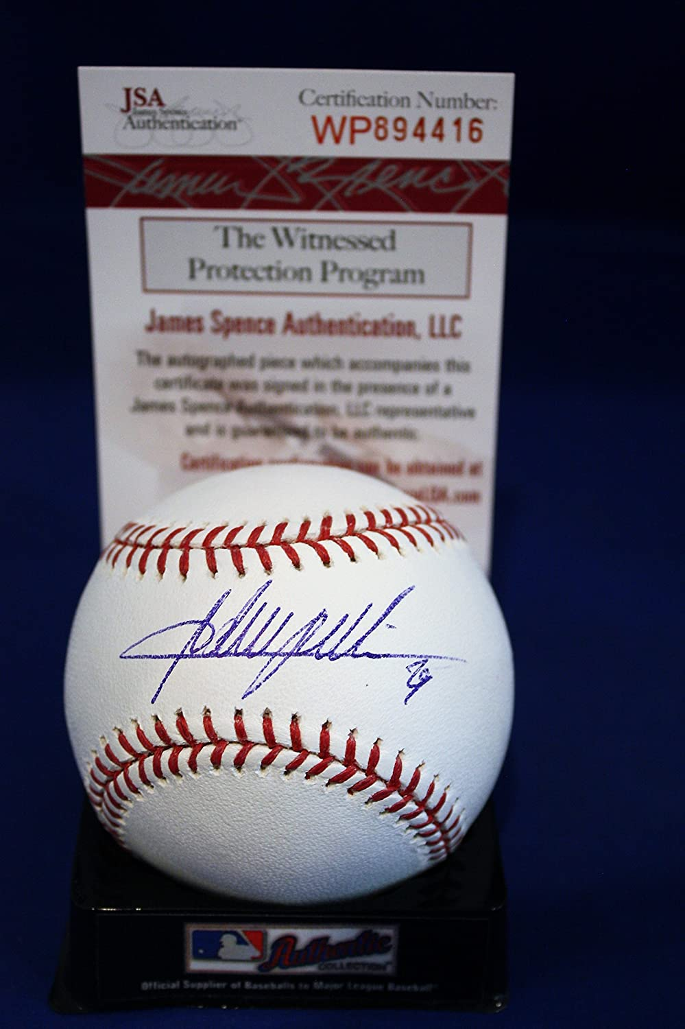 Autographed Adrian Beltre Rawlings Official Major League Baseball with JSA COA