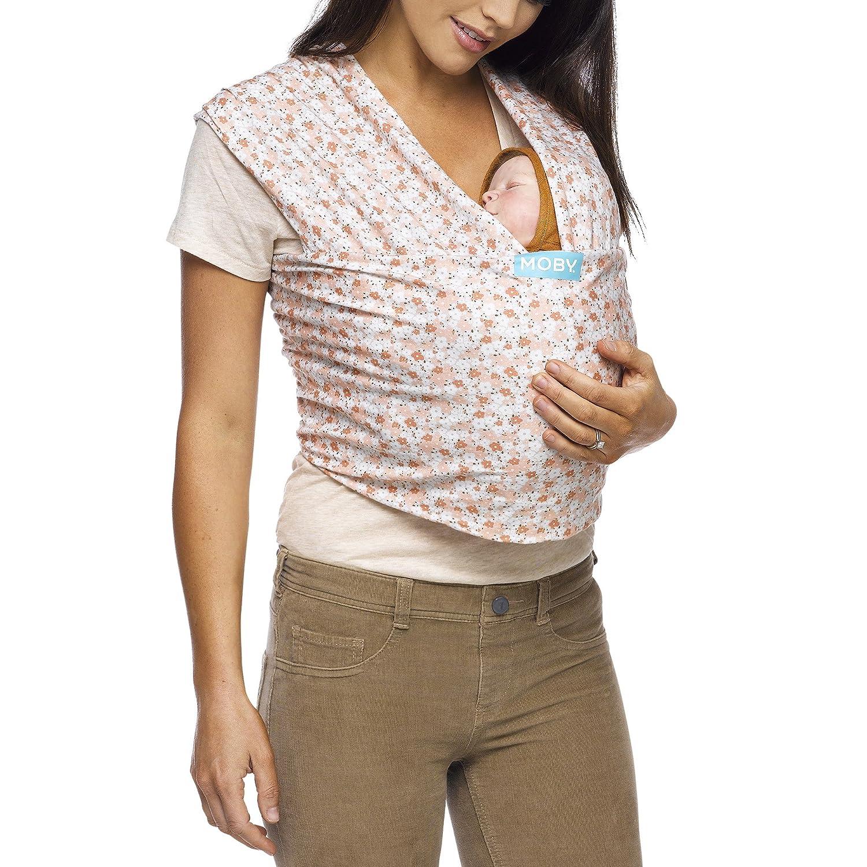 Moby Wrap Evolution - Fular portabebés elástico, color caramel MEV-CARAME