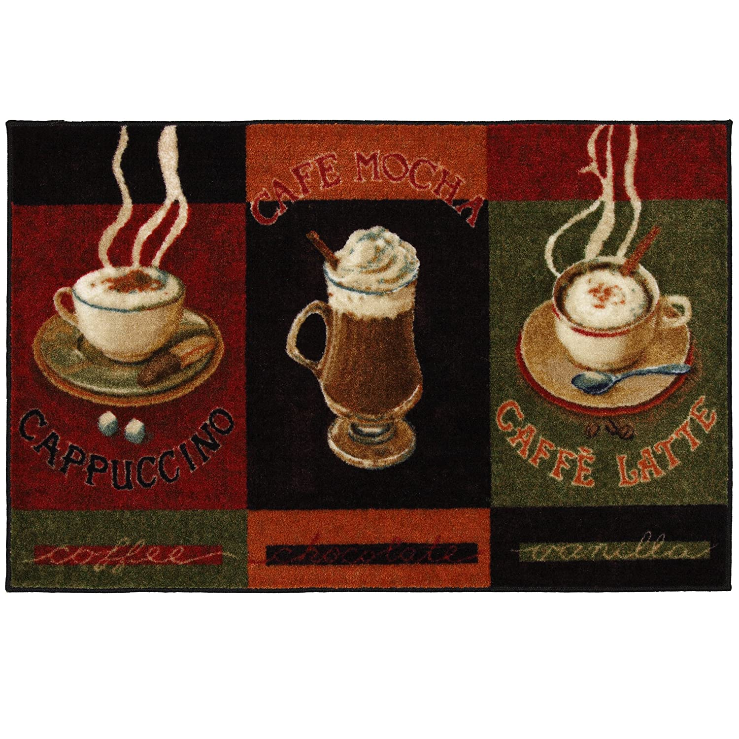 mohawk home new wave caffe latte primary printed rug