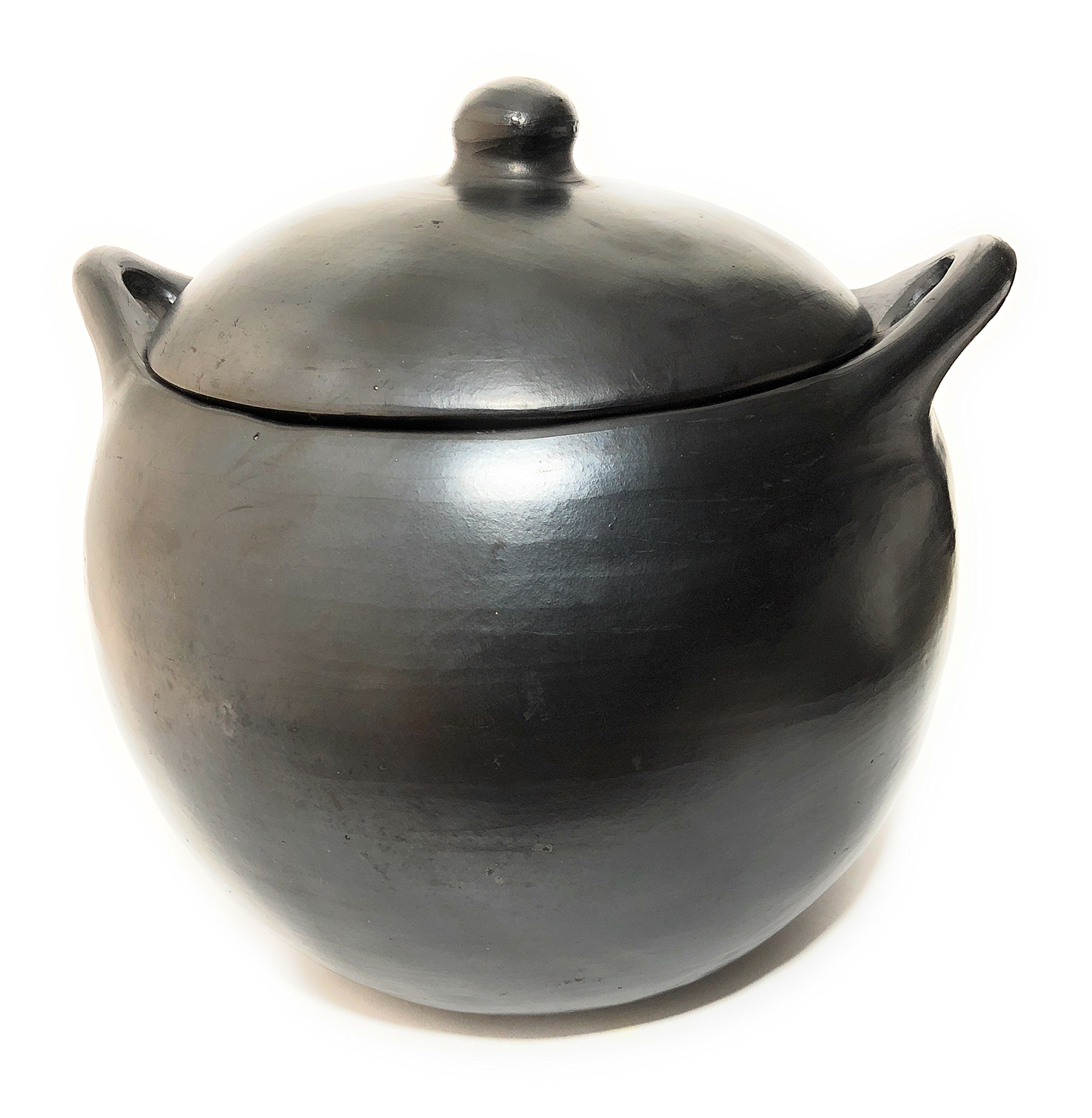 La Chamba Black Clay Soup Pot - 5 flat base