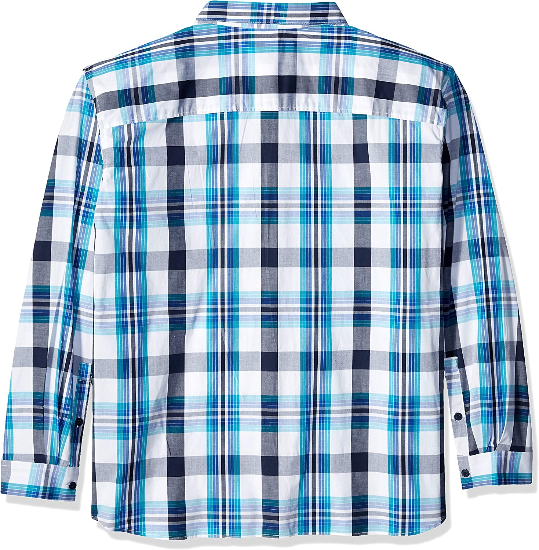 Columbia Men's Rapid Rivers Ii Long Sleeve Shirt Azul Windowpane Plaid
