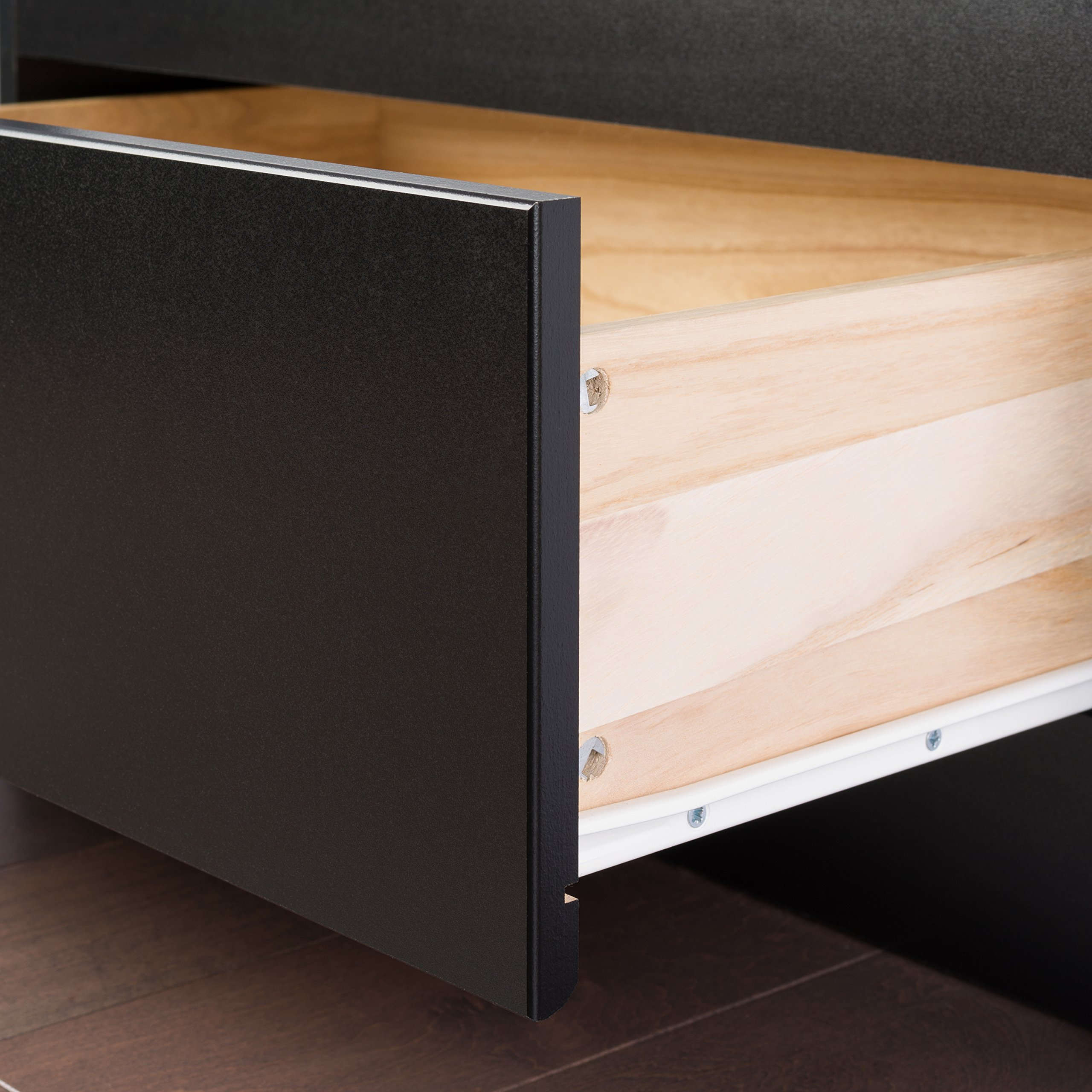 Black Queen Mate's Platform Storage Bed with 6 Drawers by Prepac (Image #4)